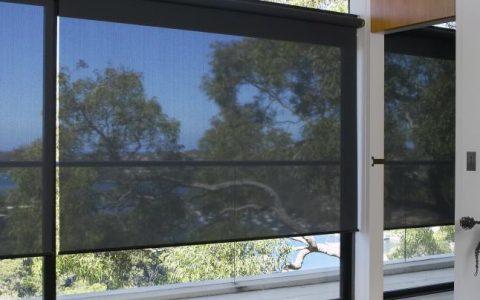 large-dark-sheer-roller-blinds